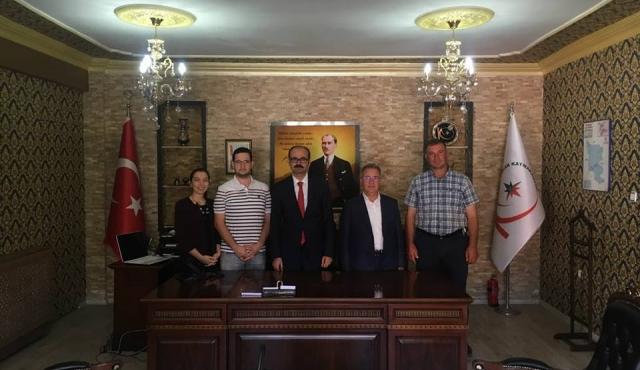 Belediye Başkanı Mehmet BOYRAZ; Kuluncak Kaymakamlığına atanan Mehmet ERDEM 'e hayırlı olsun ziyaretinde bulundu